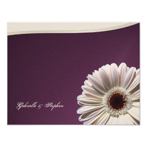 Gerbera Daisy/ Plum Fancy Card
