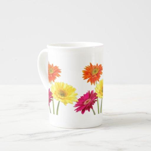 Gerbera Daisy Porcelain Mugs
