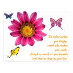 Gerbera Daisy Post Card