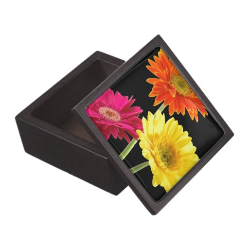 Gerbera Daisy Premium Trinket Boxes