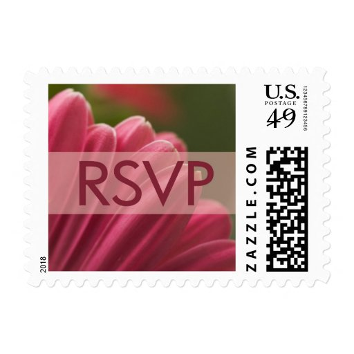 Gerbera Daisy RSVP stamps