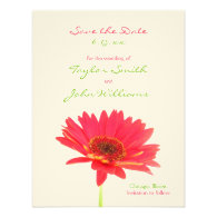 Gerbera Daisy Save the Date Announcements