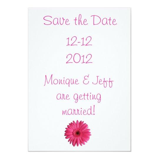 Gerbera Daisy Save the Date Card