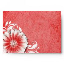 Gerbera Daisy Scroll 1 | red Envelope