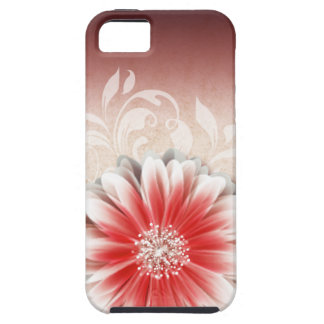 Gerbera Daisy Scroll 1 | red sand iPhone 5 Cover
