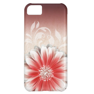 Gerbera Daisy Scroll 1 | red sand iPhone 5C Covers