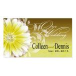 Gerbera Daisy Scroll 1 Wedding Website yellow Business Card Templates