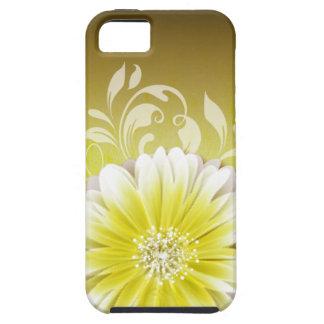 Gerbera Daisy Scroll 1 | yellow chalkboard iPhone 5 Covers