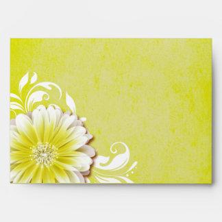 Gerbera Daisy Scroll 1 | yellow Envelope