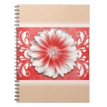 Gerbera Daisy Scroll Planner red sand Journal