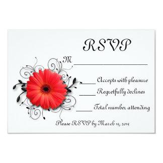 Gerbera Daisy Theme 3.5x5 Paper Invitation Card