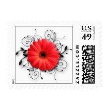 Gerbera Daisy Theme Postage Stamp
