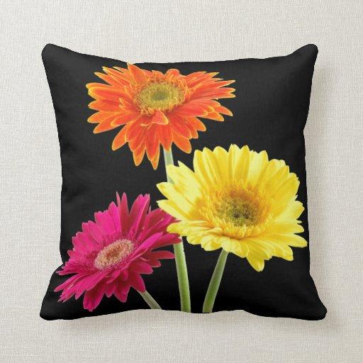 Gerbera Daisy Throw Pillows