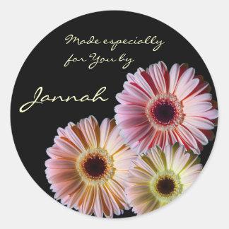 Gerbera Daisy Trio Classic Round Sticker