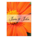 Gerbera Daisy Wedding 5x7 Paper Invitation Card
