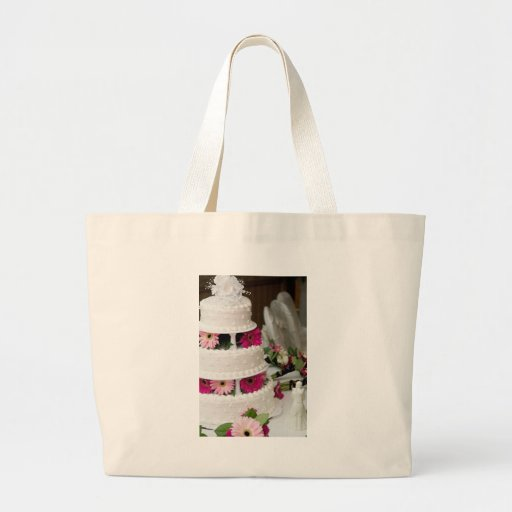 Gerbera Daisy Wedding Cake Tote Bags