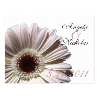 Gerbera Daisy/ Wedding Response Card Postcard