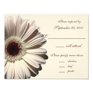 Gerbera Daisy Wedding/ Response 4.25x5.5 Paper Invitation Card