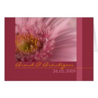 Gerbera de Rosa • Hochzeitseinladung Tarjeta De Felicitación