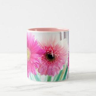 Gerbera flowers mug