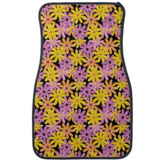 Gerbera flowers pattern, background car floor mat