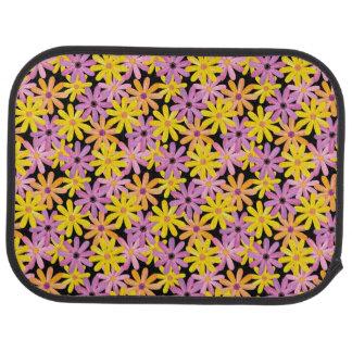 Gerbera flowers pattern, background car mat