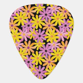 Gerbera flowers pattern, background guitar pick