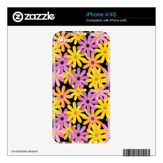 Gerbera flowers pattern, background skin for the iPhone 4S