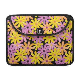 Gerbera flowers pattern, background sleeve for MacBook pro