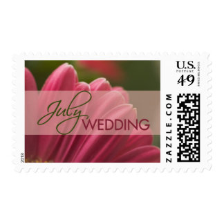 Gerbera July Wedding Stamps