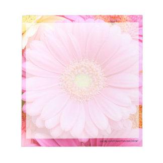 Gerbera - libreta rosada de la margarita bloc de papel