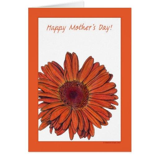 Gerbera Mother's Day Card