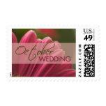 Gerbera October Wedding stamps