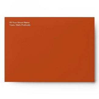 Gerbera orange A7 Envelope