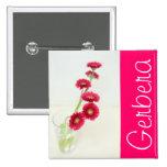 Gerbera red pin