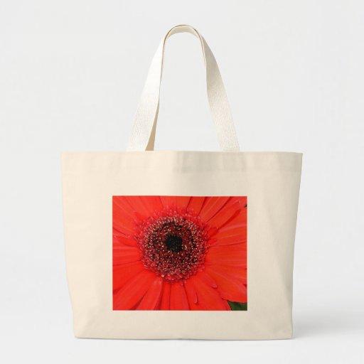 Gerbera rojo bolsa de tela grande