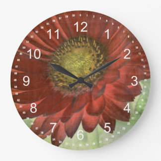Gerbera rojo reloj