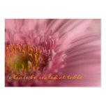 Gerbera rosado • Huésped que asienta la mini tarje Tarjetas De Visita