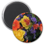 Gerbera Rose Bouquet 2 Inch Round Magnet