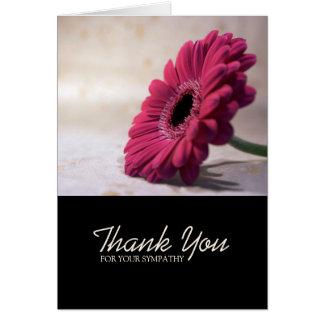 Gerbera Sympathy Thank You Note Card 1