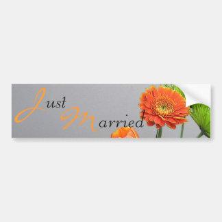 Gerbera Wedding Bumper Sticker