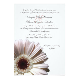 Gerbera Wedding Daisy 5x7 Paper Invitation Card