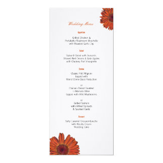 Gerbera Wedding Menu Card