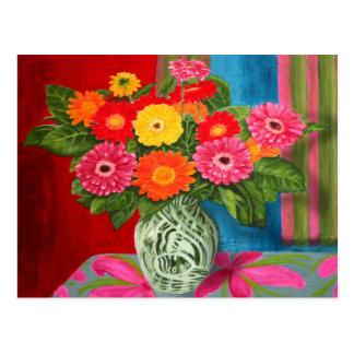 gerberas daisy Bouquet Postcard