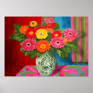 gerberas daisy Bouquet Print