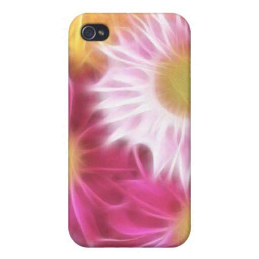 Gerberas en colores pastel iPhone 4 cárcasa