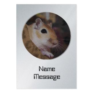 Gerbil de oro lindo del mascota plantillas de tarjeta de negocio