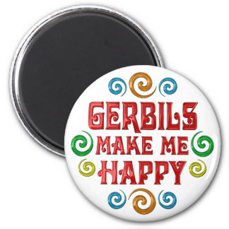Gerbil Happiness 2 Inch Round Magnet
