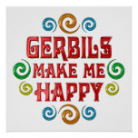 Gerbil Happiness Poster