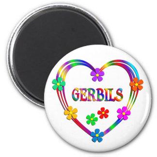 Gerbil Heart 2 Inch Round Magnet